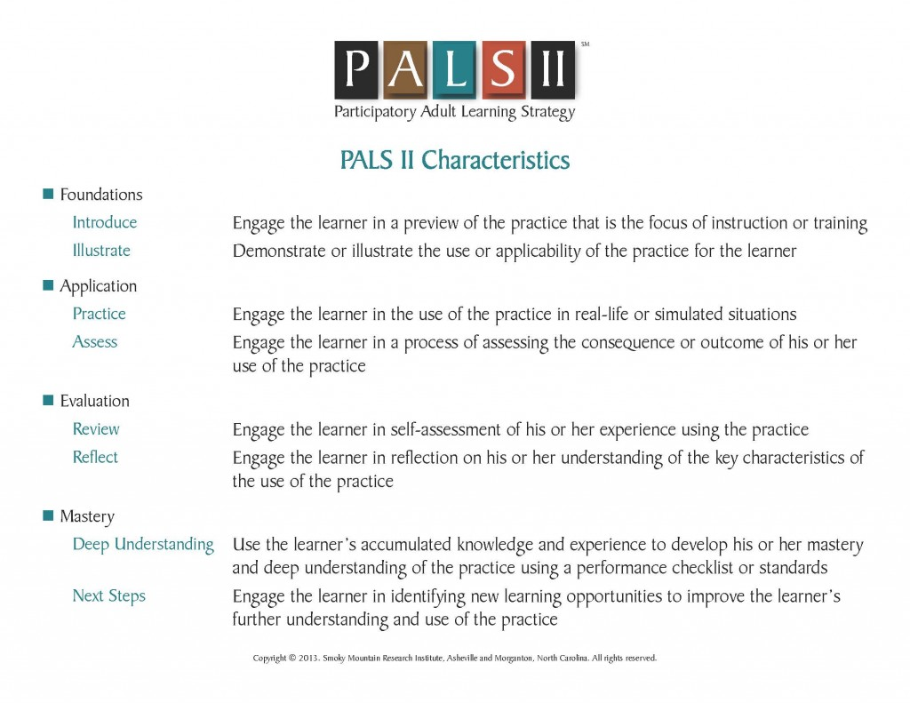 Description of the PALS characteristics