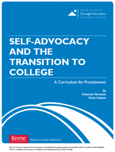 Self-advocacy and the Transition to College curriculum