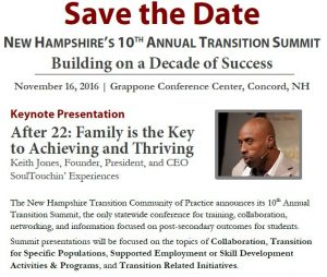 Portion of the poster for the 10th annual transition summit