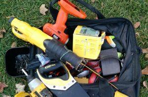 bag of tools, open