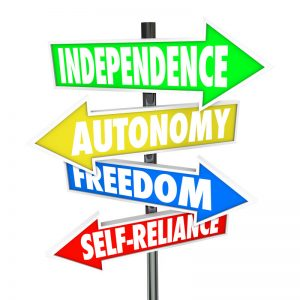 signposts: independence, autonomy, freedom, self-reliance