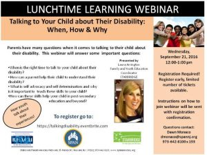 Flyer about the Lunchtime Learning Webinar