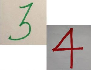 Numbers 3 and 4