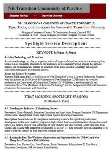 front page of Summit spotlight sessions descriptions