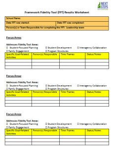 action plan template example - Fidelity Tool results worksheet