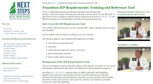 transition iep requirements training & reference tool