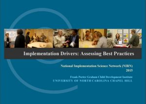 Implementation Drivers: Assessing Best Practices - first page of PDF