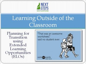 First page of Learning Outside the Classroom ppt