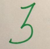 numeral three