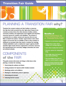 Cover of transition fair guide